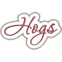 Hogs Applique Script Zig Zag Snap Shot