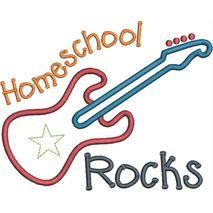 Homeschool Rocks Applique Snap Shot