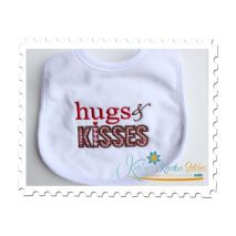 Hugs and Kisses Bib