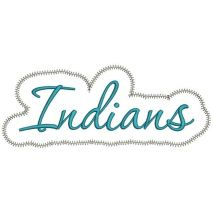 Indians Applique Script Zig Zag Snap Shot