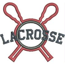 Lacrosse Applique Double Satin Snap Shot