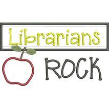 Librarians Rock Chalkboard Applique Snap Shot