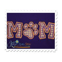 MOM Applique with Paw