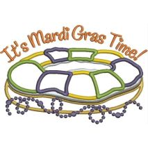 Mardi Gras King Cake Applique Snap Shot