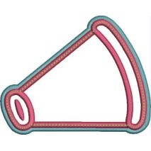 Megaphone Applique Double Satin Snap Shot