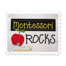 Montessori Rocks Chalkboard Applique Snap Shot