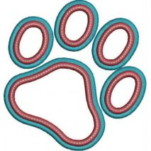 Paw Applique Double Satin Snap Shot