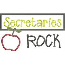Secretaries Rock Chalkboard Applique Snap Shot