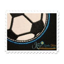 Sports Applique Double Satin close up