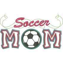 Soccer Mom Applique with a Twist Snap Shot