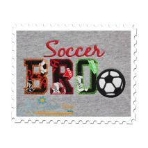 Soccer BRO Applique Vintage Zig Zag