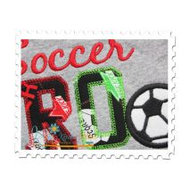 Soccer BRO Applique Close Up