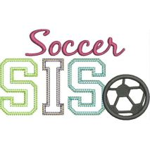 Soccer SIS Applique Vintage Snap Shot