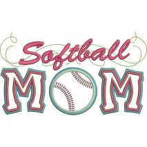 Softball Mom Applique Snap Shot