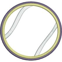 Tennis Ball Applique Double Satin Snap Shot