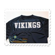 Vintage Sports Applique Sample