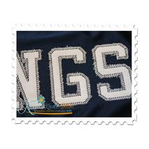 Vintage Sports Applique Close Up