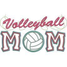 Volleyball Mom Applique Snap Shot