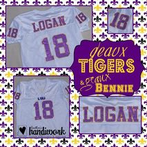 Tiger Jersey Sample - Stitched by Heathers Handiwork Custom Embroidery