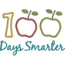 100 Days Smarter Applique Snap Shot