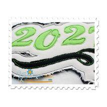 2027 Distressed Applique Close Up