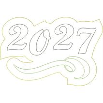 2027 Distressed Applique Snap Shot