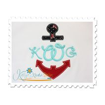 Anchor Split Applique (Font not included)