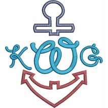 Anchor Split Applique Snap Shot (Font not included)