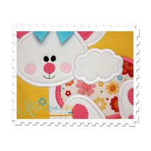 Baby Bunny Applique Close Up