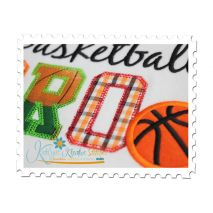Basketball BRO Applique Close Up