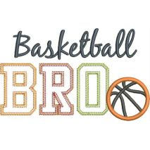 Basketball BRO Applique Snap Shot