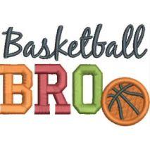 Basketball BRO Applique 4x4 Snap Shot