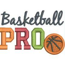 Basketball PRO Applique 4x4 Snap Shot