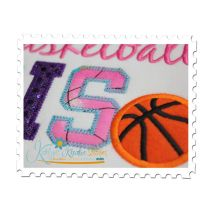 Basketball SIS Applique Close Up