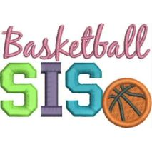 Basketball SIS Applique 4x4 Snap Shot