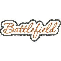 Battlefield Applique Script Satin Snap Shot
