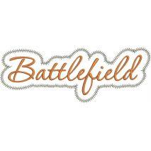 Battlefield Applique Script Zig Zag Snap Shot