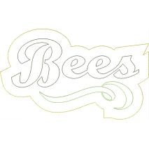 Bees Distressed Applique Snap Shot