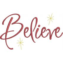 Believe Text with Stars Snap Shot