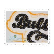 Bulldogs Distressed Applique Close Up