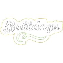 Bulldogs Distressed Applique Snap Shot