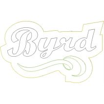 Byrd Distressed Applique Snap Shot