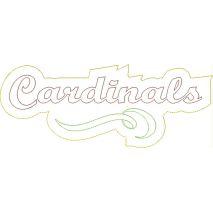 Cardinals Distressed Applique Snap Shot