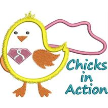Chicks in Action Applique Snap Shot