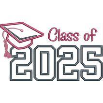 Class of 2025 Applique Satin Snap Shot