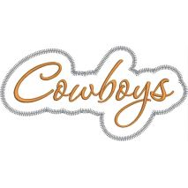 Cowboys Applique Script Zig Zag Snap Shot