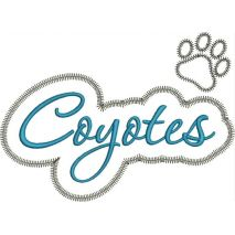 Coyotes Applique Script Zig Zag Snap Shot