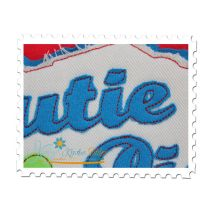 Cutie Pie Distressed Applique Close Up