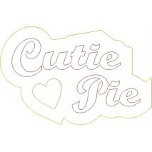 Cutie Pie Distressed Applique Snap Shot