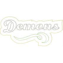 Demons Distressed Applique Snap Shot
